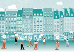 illustration couverture étude commerce